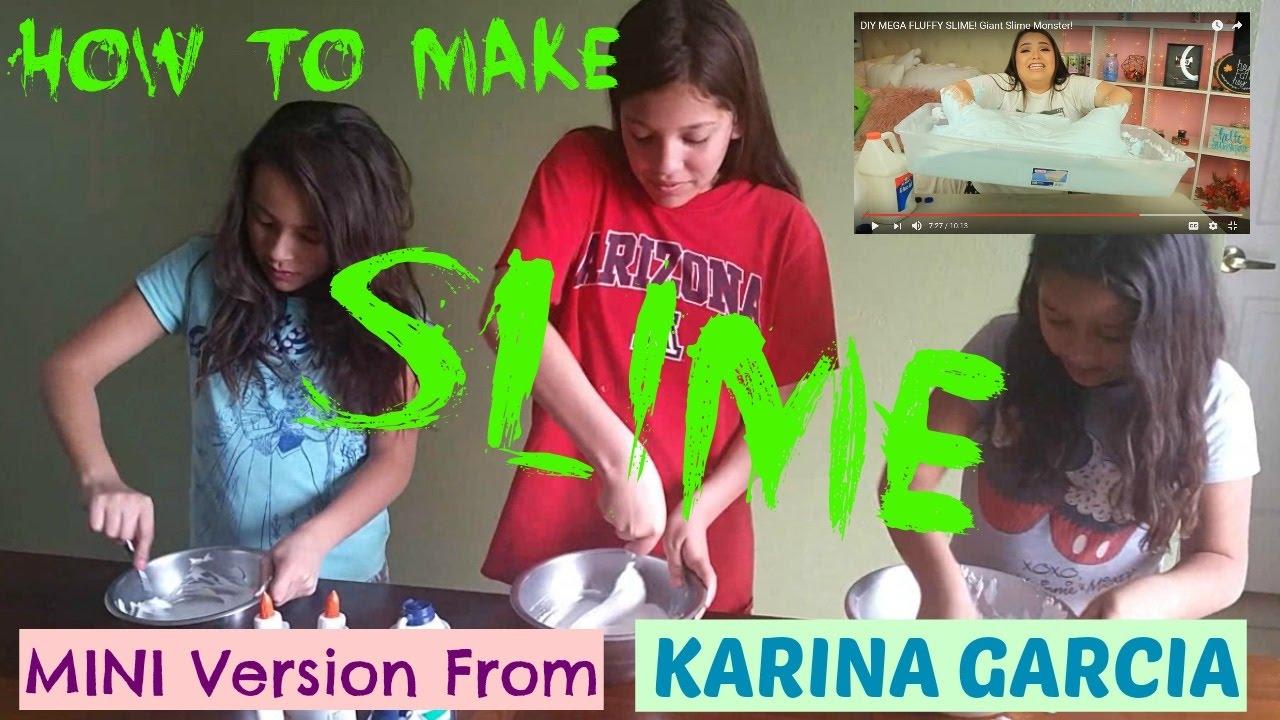 How To Make Slime Mini Version From Karina Garcia