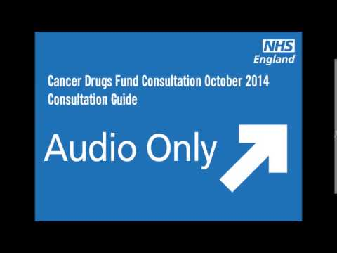 Audio only - Cancer Drug Fund Consultation Guide