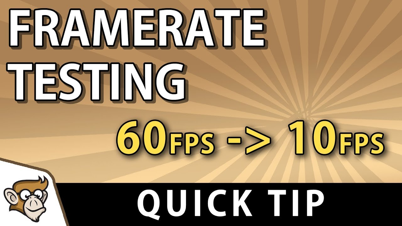 Quick Tip: Limit Framerate for Testing (Unity Tutorial)