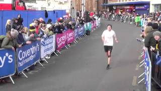 My Finish to Coventry Half marathon 28/2/16 1:22:11 chip time