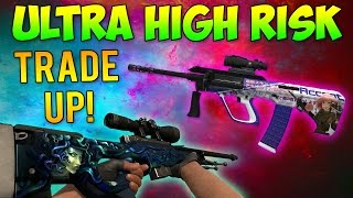 CS GO - Ultra HIGH RISK Trade Up! (10% Medusa & 20% AUG Akihabara)