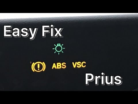 How To Fix ABS VSC And Maintain ReqD Lights Toyota Prius
