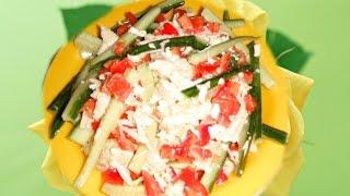Салат из курицы с плавленным сыром
