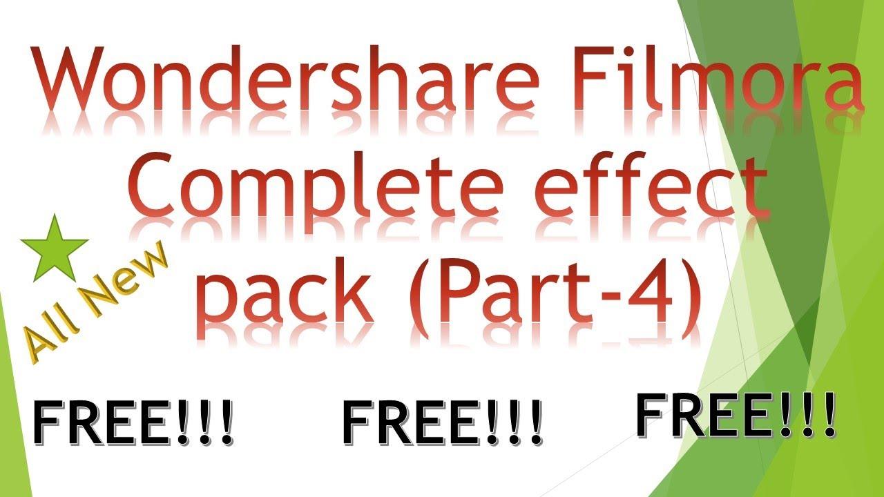 filmora title pack free