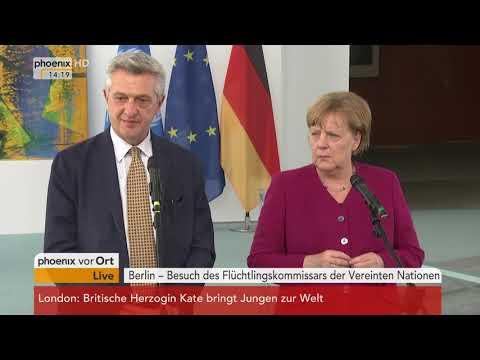 Pressekonferenz mit Angela Merkel und Filippo Grandi am 23.04.18