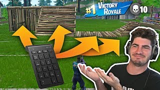 Fortnite win while building with the Number Pad...