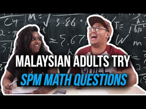 Malaysian Adults Try SPM Math Questions