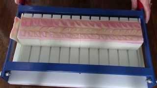 Cutting Calypso Moon soap