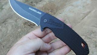 """Milwaukee 3.5"""" HARDLINE Smooth Blade Pocket Knife"""