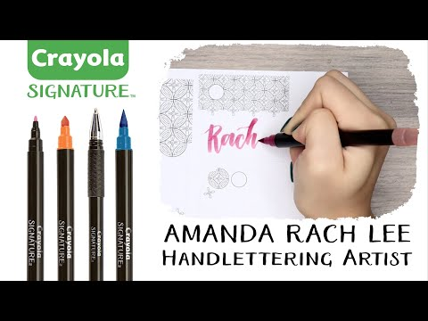 Signature   Hand Lettering and Art Sets   Crayola com