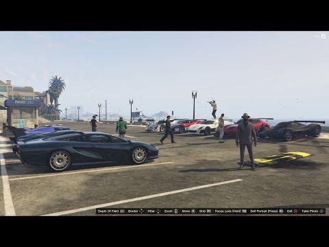 GTA 5 - Super Car Meet PS4, Drag Races, and Regular Racing