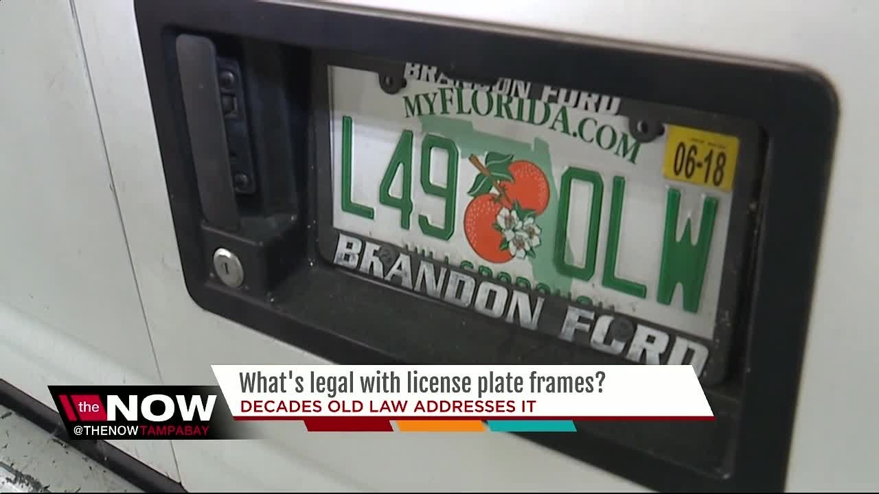 What\'s legal with license plate frames? - YouTube