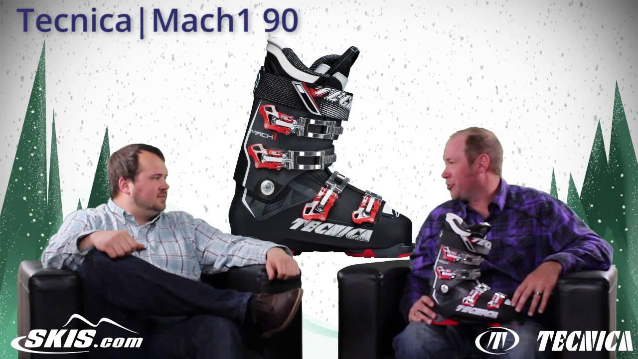 2016 Tecnica Mach 1 MV 90, 100, 120, and 130 Mens Boot Overview by SkisDotCom