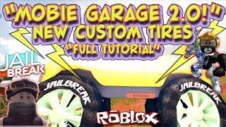 🔥JAILBREAK MOBILE GARAGE 2V aka 2.0 IS HERE! NEW TIRES! Full Tutorial Roblox🔥