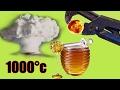 【実験】1000℃に熱した鉄球 vs 蜂蜜