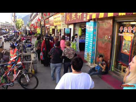 Flight Kathmandu to Lhasa,bus tour in Lhasa-Trip to Nepal,Tibet,India part 3-Travel video HD