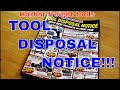 Harbor freight tool Tool Disposal catalog 09/2017 September 2017 my opinions and/or thoughts