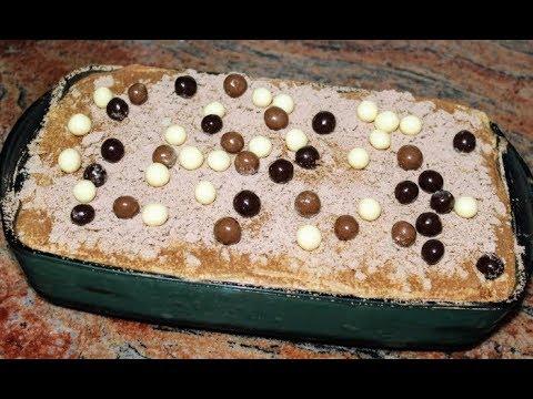 Бишкотена торта с кафе