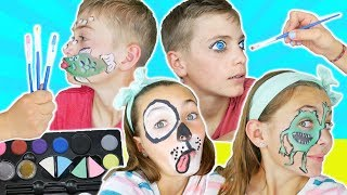 Brother VS Sister Face Paint Challenge | Fun Kids Face Paint Ideas