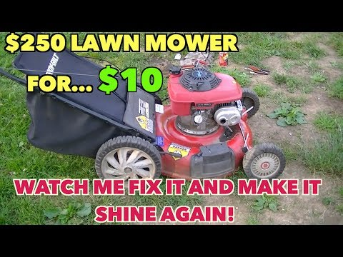 $250 Lawn Mower At A Yard Sale....For $10.00... From Ugly To Shining Like New.