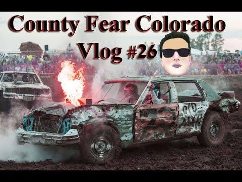شاهد المصارعة بواسطة السيارات في امريكا  Vlog #26 County Fair Colorado