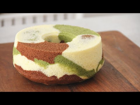 Camouflage Chiffon Cake 三色迷彩戚风蛋糕 Ll Apron