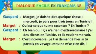 Dialogue facile en français 35