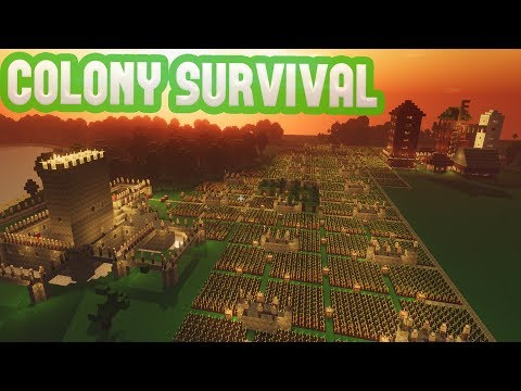 Colony Survival - 1000+ COLONISTS! - Mods, Updates & Rapid Expansion - Colony Survival Gameplay