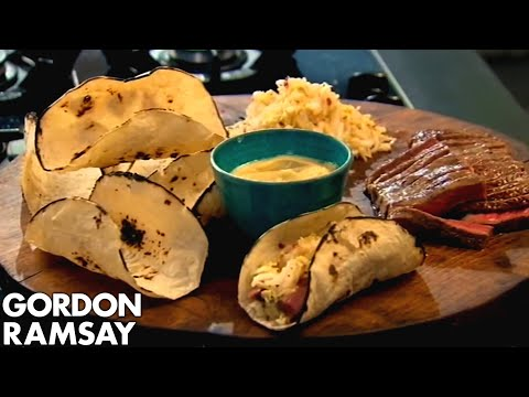 Gordon Ramsay: Beef Tacos With Wasabi Mayonnaise