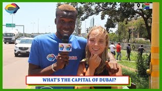 What's the CAPITAL of DUBAI? | Street Quiz South Africa | Street Quiz Mzansi | Funny African Videos