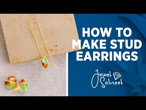 How to Make Simple Stud Earrings | Jewelry 101