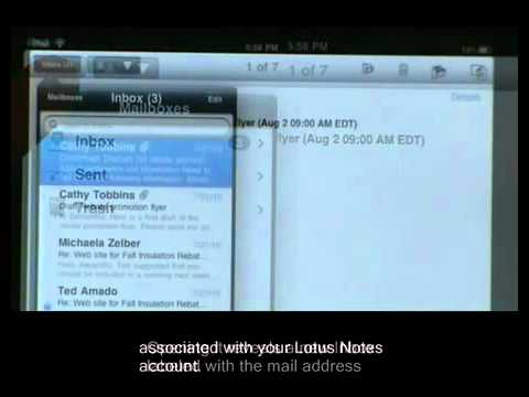 Installing Lotus Notes Traveler on an Apple device