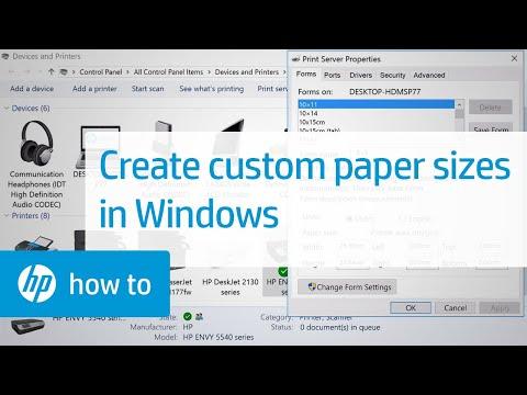 Creating Custom Paper Sizes for Printing in Windows | HP Printers | HP