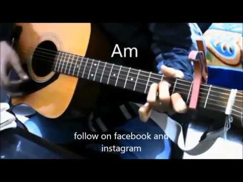 4 open chords 8 Superhit bollywood songs mashup - Beginners Guitar Lesson CHords easy hindi