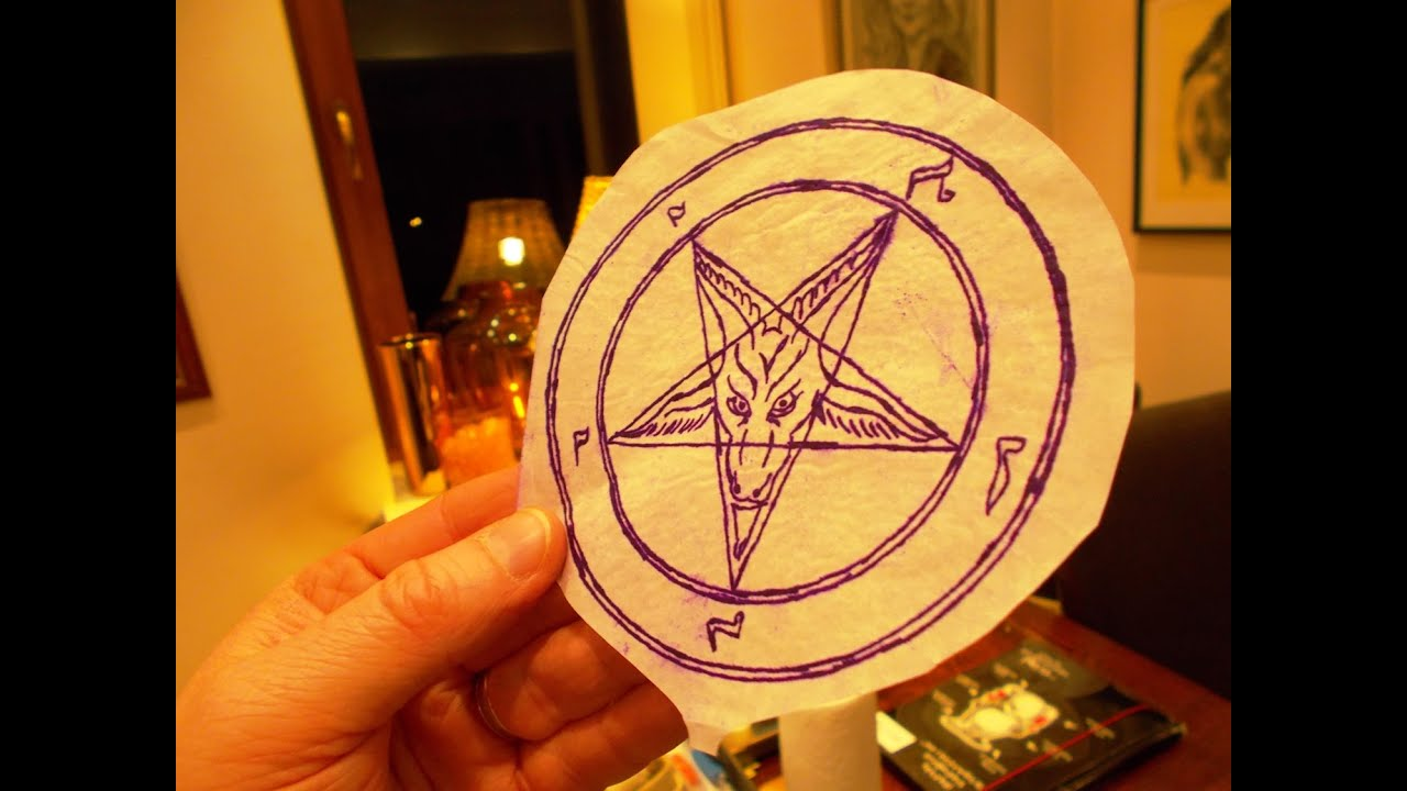 6fa2f9a8ff801 How To... Make a Church of Satan Tattoo - Pentagram - YouTube