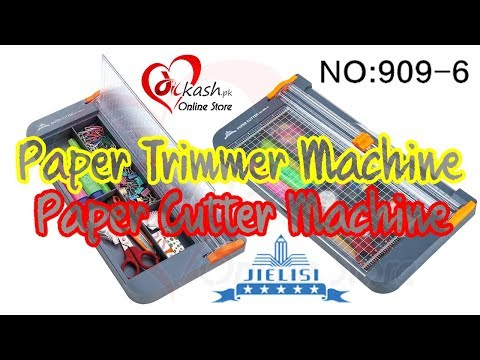 Paper Trimmer Cutter Machine Reviews How to Use 909-6 - Paper Cutter Machine for Crafts - Dilkash.pk