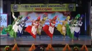 r k arya college bhangra team at gndu youth fest 2014