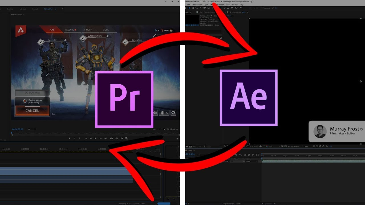 Use Adobe Dynamic Link from After Effects to Premiere Pro! Save Your Time!