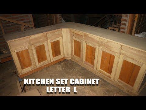 Cara Membuat Kitchen Set Cabinet Minimalis Letter L Untuk Dapur Mini (PART 3) - FINISH