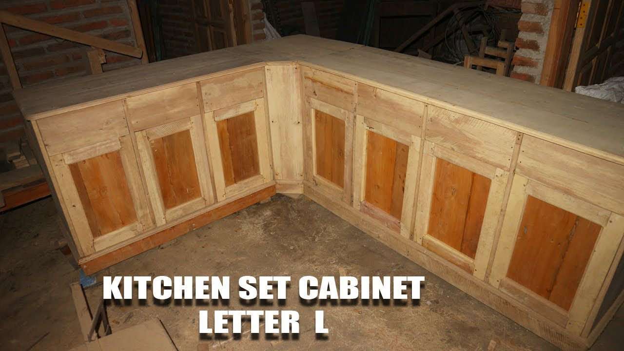 Cara membuat kitchen set cabinet minimalis letter l untuk dapur mini part 3 finish