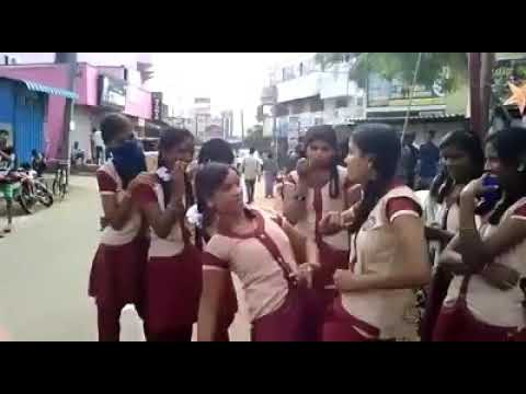 Local dance of government school girls in tamilnadu