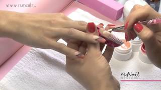 ruNail Professional: Наращивание ногтей биогелем видео урок
