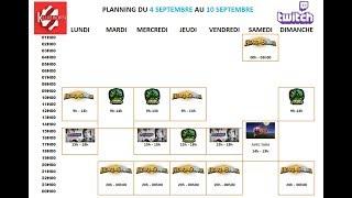 Planning de la semaine - du 4 au 10 Septembre 2017
