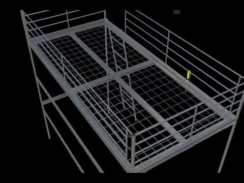 Betere IKEA Loft Bed - Instructions in 3D - YouTube AE-45
