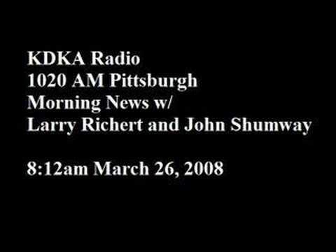 Bryant KDKA Radio Interview March 26, 2008