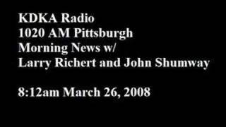 Bryant KDKA Radio Interview March 26, 2008