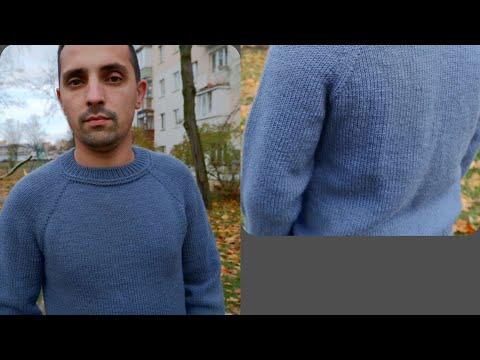 Как связать мужской джемпер спицами для начинающих пошагово
