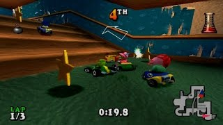 Muppet RaceMania Gameplay Tournament (Playstation, PSX, PsOne)