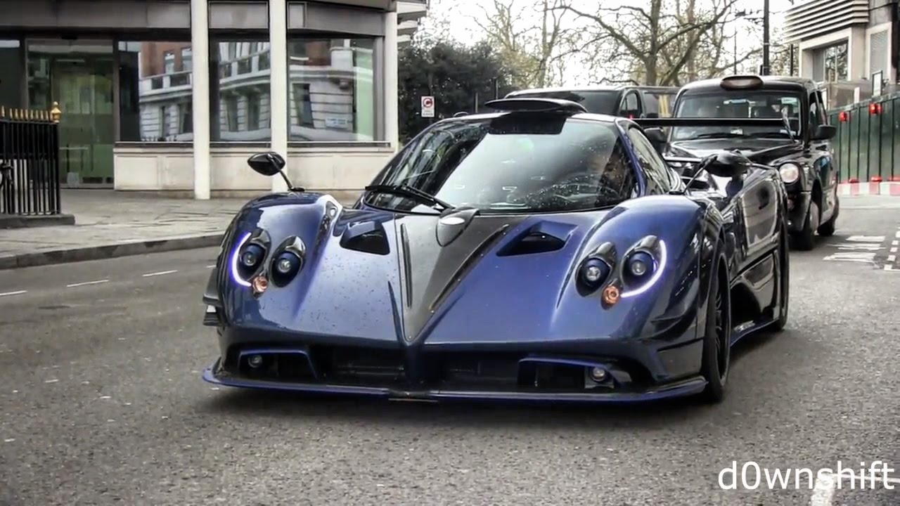 Pagani Zonda 760 'by Mileson' Startup & Driving in London - YouTube
