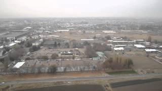 Посадка самолета в Ташкенте